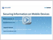 Securing Information On Mobile Devices